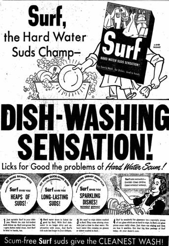 Vintage Ad #599: Surf, The Dishwashing Sensation!