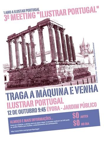 Cartaz Ilustrar Portugal - Évora 12 De Outubro