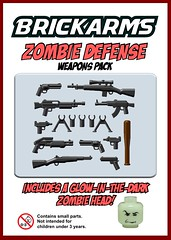 BrickArms Zombie Defense Weapons Pack