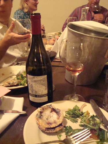 Scallops, Salad and Wine
