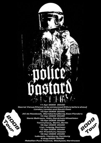 Police Bastard Tour Poster 2009 (150dpi) small