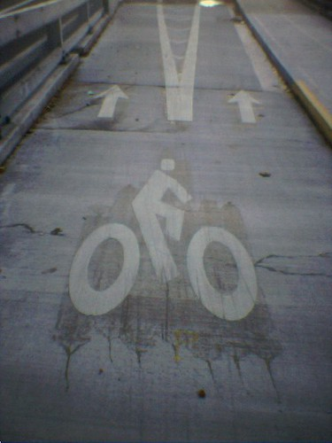 Bike lane split