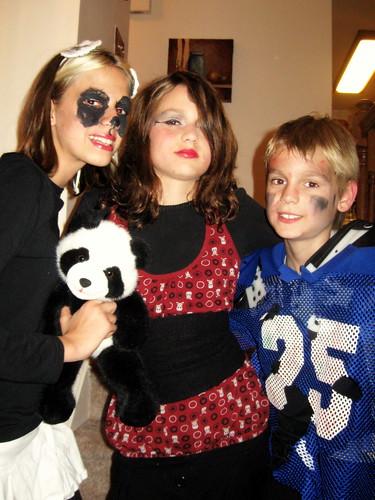 Halloween 2008, Panda Girl, Punk Rocker, and Haunted Football Player