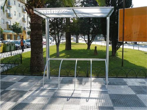 Aparcamiento para Bicicletas con marquesina en Sevilla.
