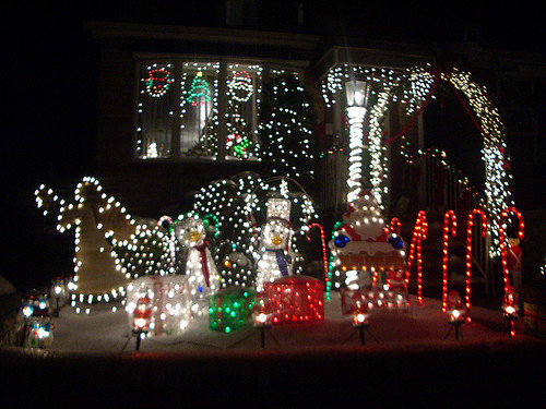 Iluminación navideña en Dyker Heights