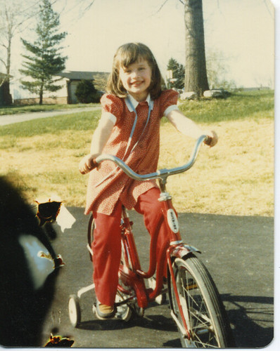 Kimberly on her Schwinn