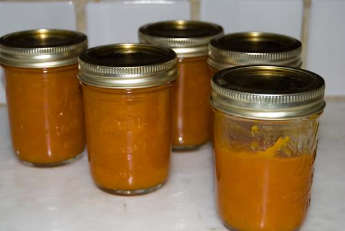 Jars of Apricot Preserves