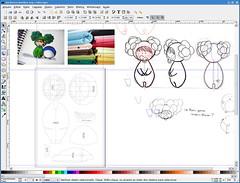 Ilustração e moldes do Bebê brócolis