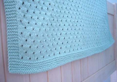 organic heirloom baby blanket knitting pattern