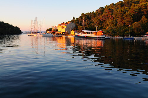 Sunset on Pomena, Mljet Island