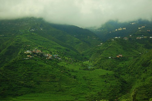 view of Mussoorie, Uttarakhand, India