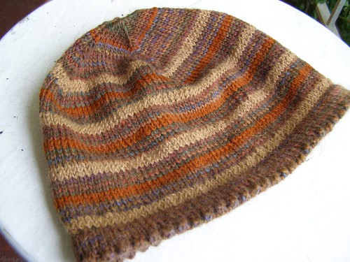 brown stripe bucket hat