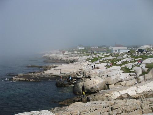 Misty Peggys Cove