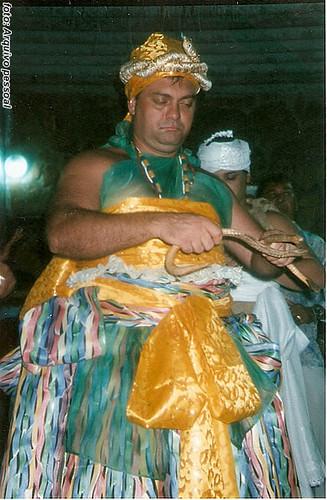 Oxumaré, no Rio de Janeiro, quando foi ser padrinho de uma filha