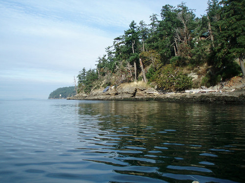 Philmore Point on Galiano Island, BC taken from a canoe trip
