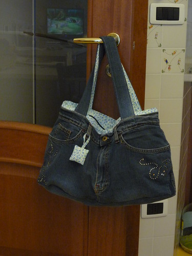 La borsa jeans punto per punto ameliabefana 39 s blog for Borse fai da te jeans