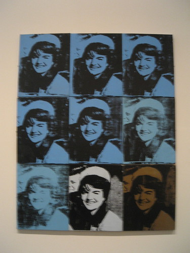 Warhols Nine Jackies, taken by moi at the Met.