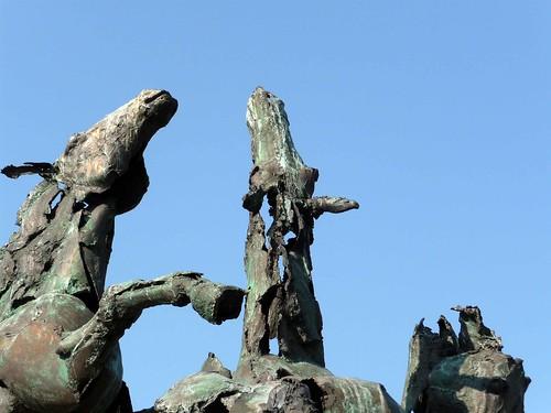 Standbeeld paarden Hasselt