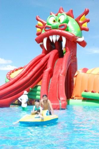 Kids at EK Biki Waterworld