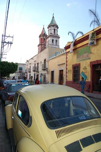 Bocho (VW-Bug) on a Queretaro Street