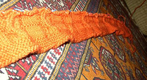 orange snakes start again ruffle hem (2)