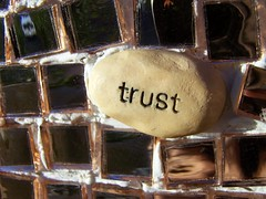 Trust: Rock Art in Downtown Lubbock, Texas - Proverbs 3:5,6