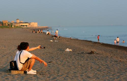 taking photos on the beach 2