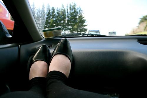 Making my own fun in the car