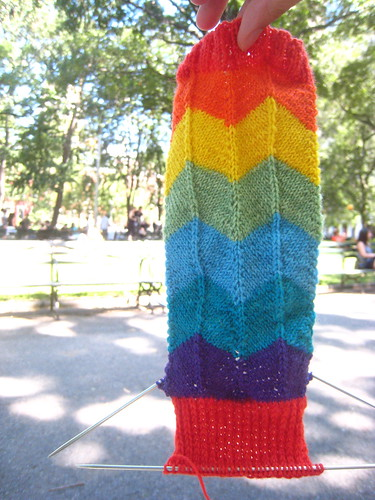 Rainbow Sock by you.
