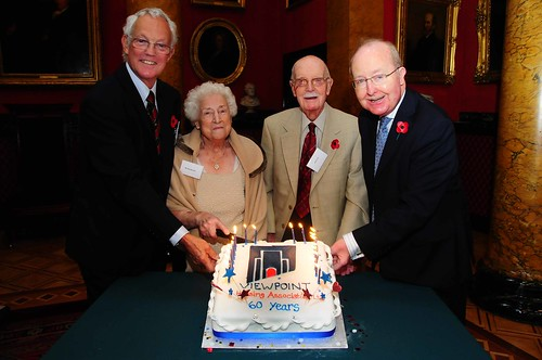 Dan and Margaret with Viewpoint chair Roger and Ross Finnie