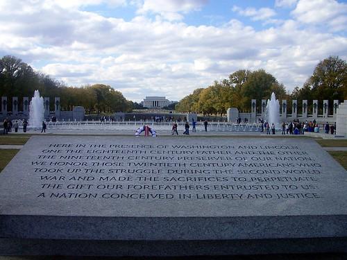 Licoln Monument y Monumento a la Segunda Guerra Mundial