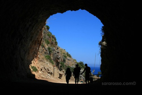 Through the tunnel at Lo Zingaro Natural Reserve, Sicily