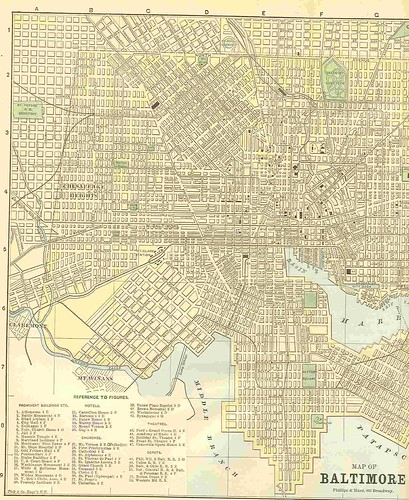 1887 Map BALTIMORE