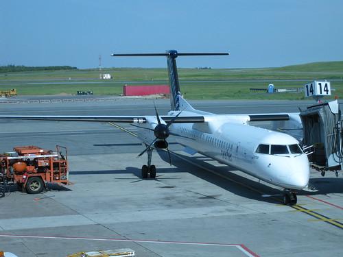 Porter plane, leaving Halifax