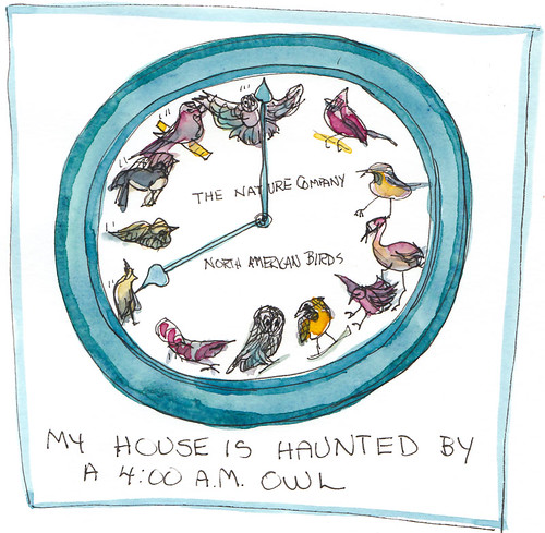 Haunted Bird Clock