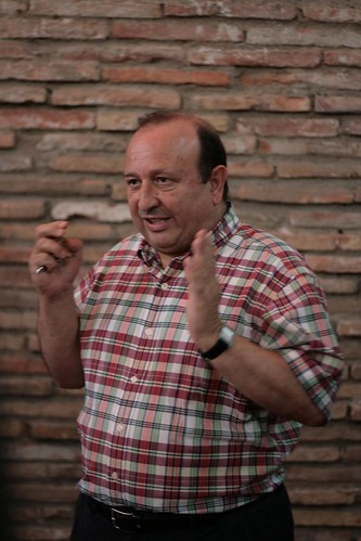 Miguel Merino getting animated