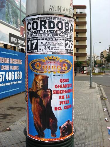 Circo con animales en Córdoba.