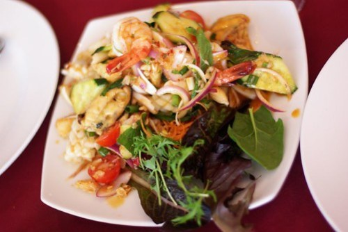 Seafood Salad, Harbour View Thai - Shellharbour Village by you.