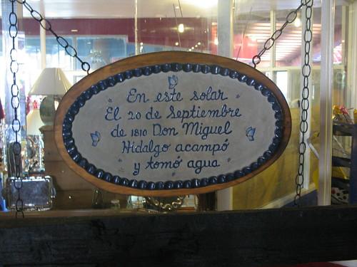 Aqui tomo agua Miguel Hidalgo