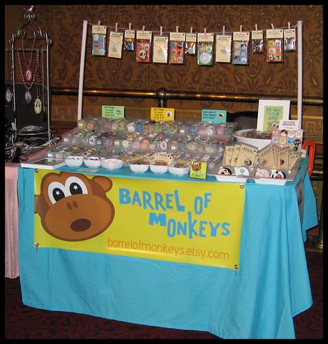 Barrel of Monkeys at the Detroit Urban Craft Fair - Nov. 15, 2008
