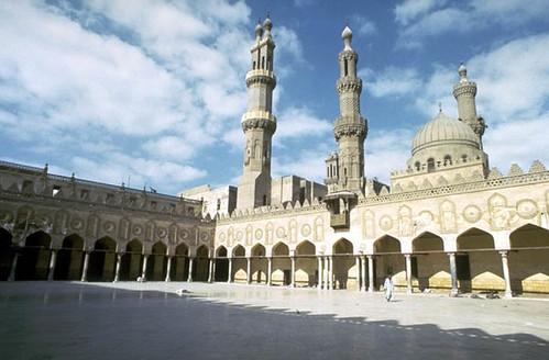 Al-Azhar Mosque: Northwest portico of the mosque