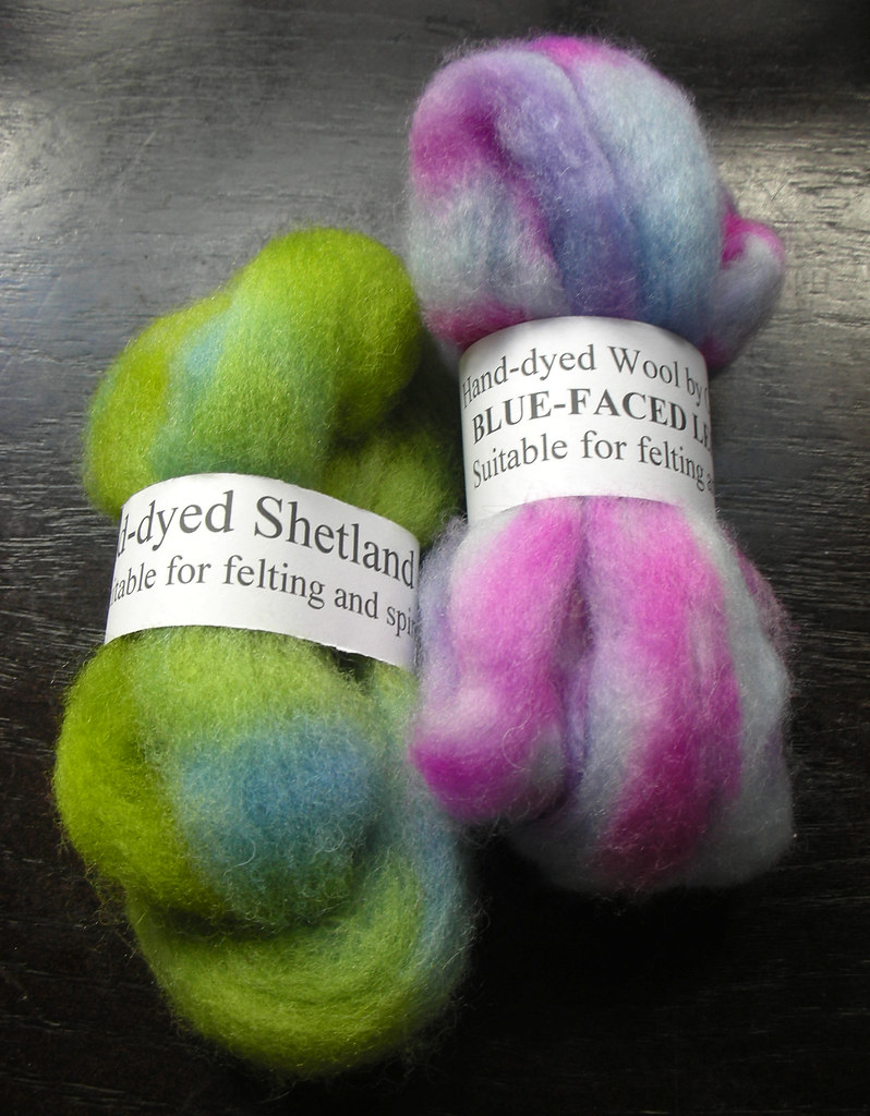 Hand-dyed Spinning Wool
