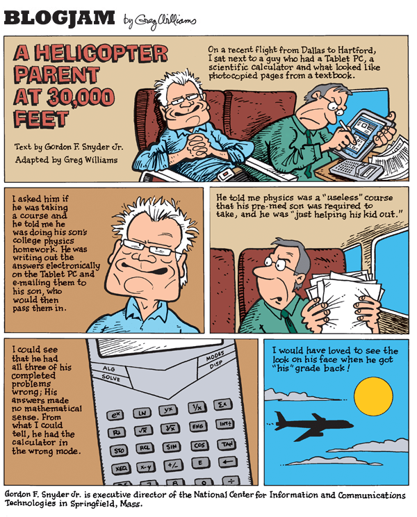 College physics | BLOGJAM COMICS by Greg Williams