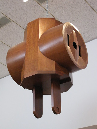 Giant Three-way electric plug, Claes Oldenberg
