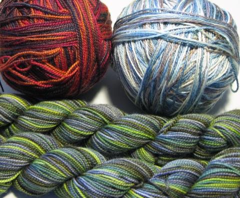 Multi-colored Sock Yarns