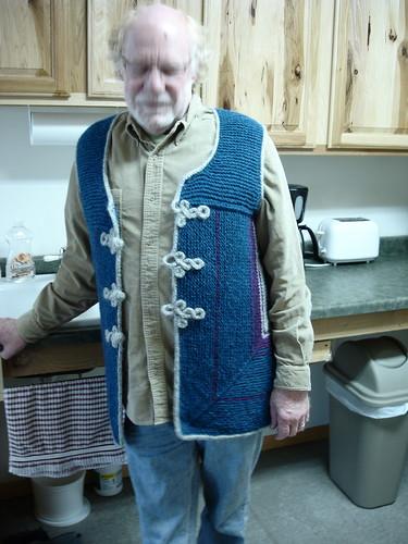 Megs Vest on Blurry Jack