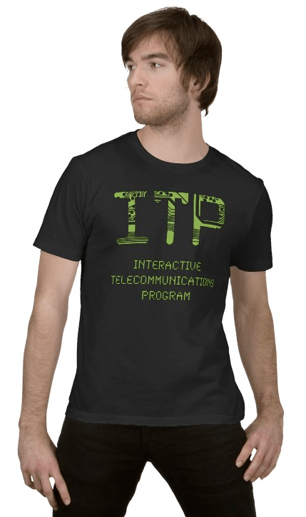 ITP T-Shirt (Circuits & LEDs) - Model View