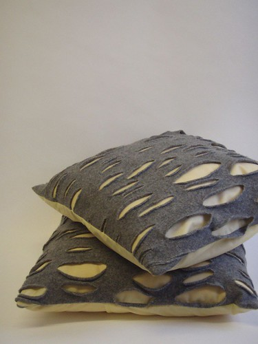 grey and yellow doublet cushions