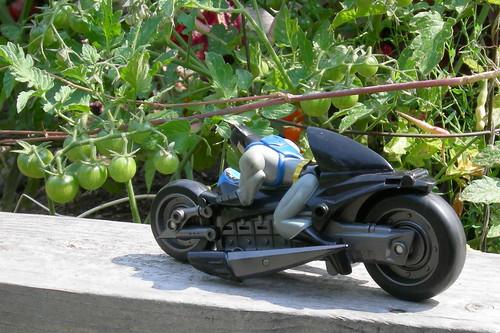Batcycle & tomatoes