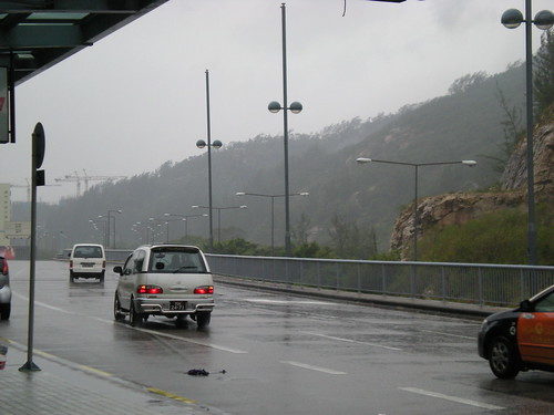 Typhoon No.8 in Macau (1)